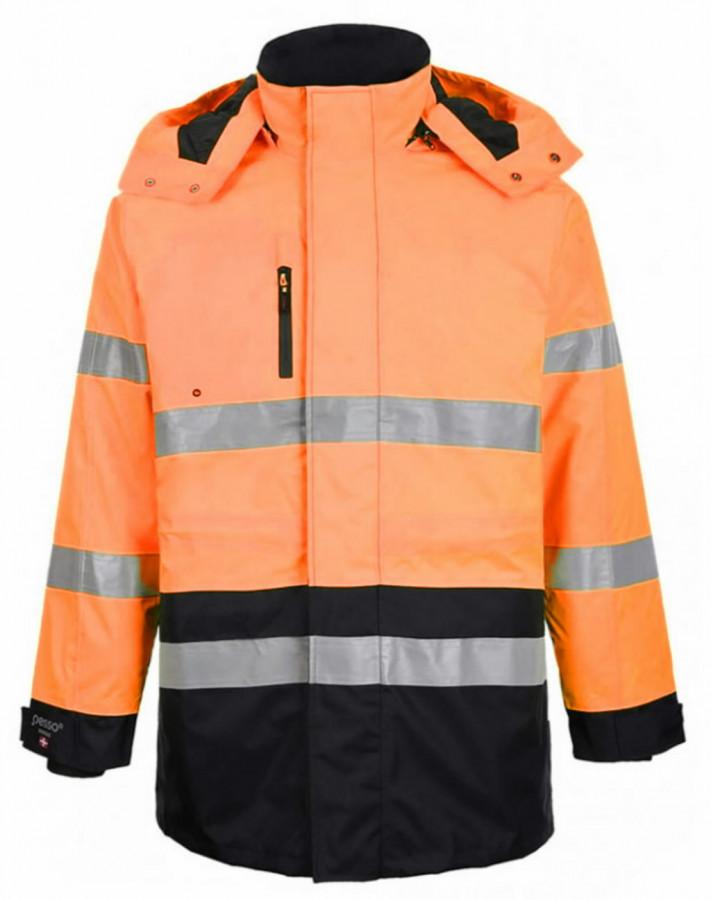 Hi.vis winterjacket Montreal orange/dark navy S, Pesso