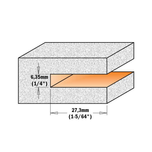 SLOT CUTTER Z4 FOR GROOVES HM S=12X70 D=92x6,35x82  RH, CMT