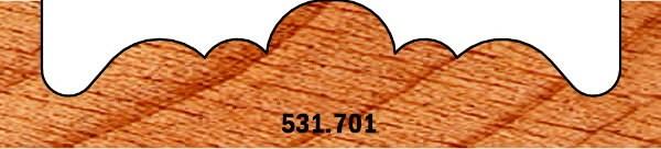 ROSETTE CUTTER  HW  S=9,5+3FLAT   D=70    RH  (1), CMT