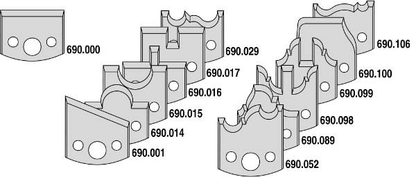 13-PCE MULTIPROFILE SET D=120X40 F=50, CMT