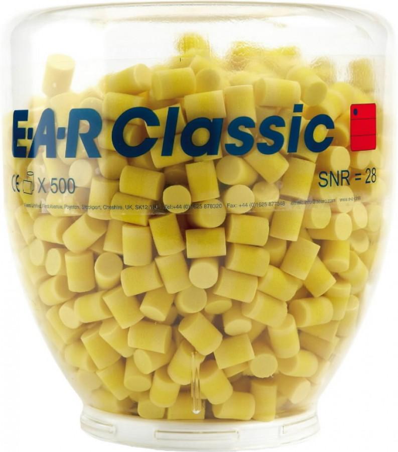 Kõrvatropid E-A-R Classic täitepakend 500paar/Plastikpudel, 3M