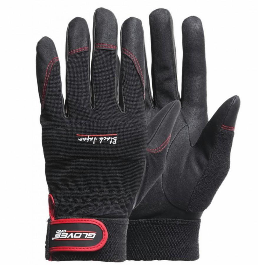 Kindad, universaalsed Black Japan must 11, Gloves Pro®