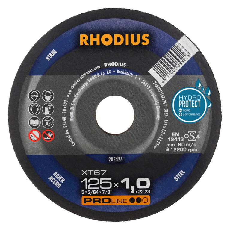 Pjovimo diskas metalui XT67 230x1.9, Rhodius