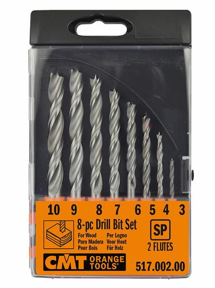 Puidupuuride komplekt HSS 8 osaline 3-10mm, CMT