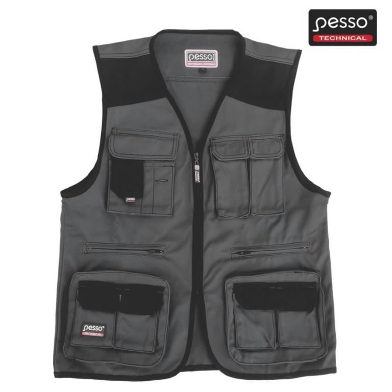 Vest taskutega DICP, hall/must M, Pesso