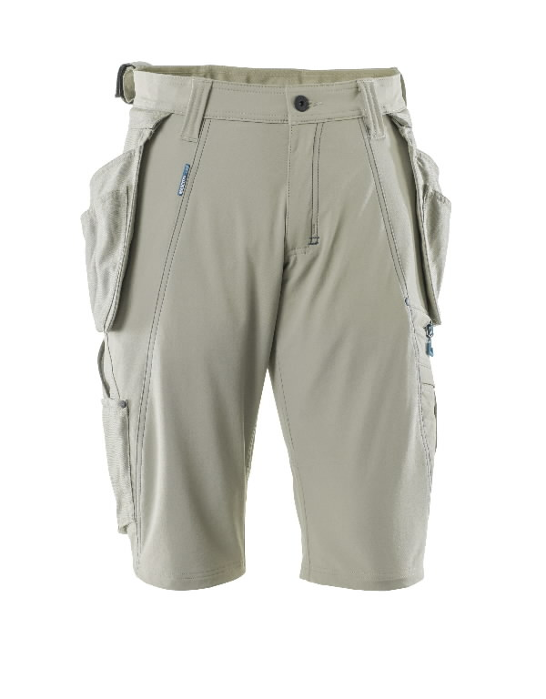 Trousers with holsterpock.shorts 17149 Advanced, light khaki C50, Mascot