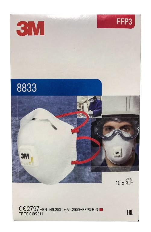 Respiraator, klapiga FFP3, 3M