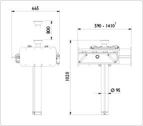 kanalitõstuk pneumohüdrauliline GD100-1 10T