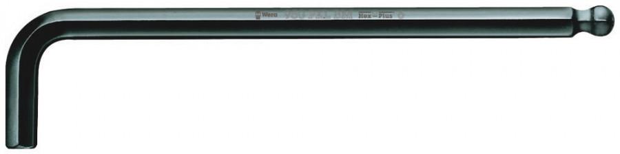 L-kuuskant 6mm 950 PKL BM pikk palliga, Wera