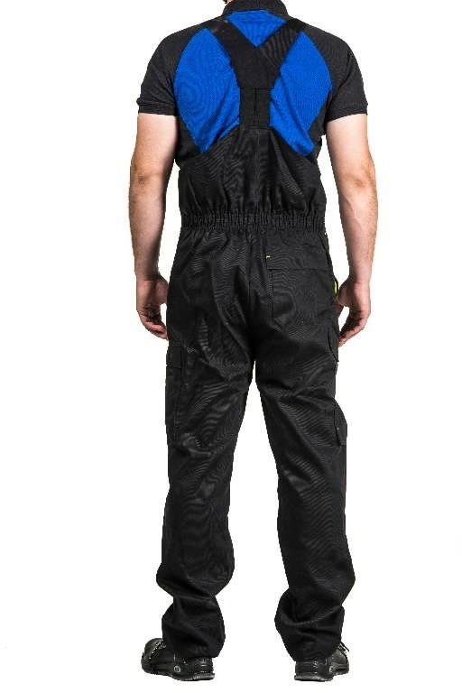 Bib-trousers for welders Stokker Special black/yellow L, Dimex