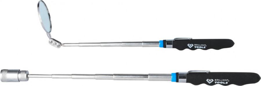 Teleskoop peegel D52mm ja magnet 2kg kmpl, pikkus 620mm, Brilliant Tools