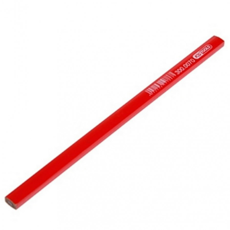 märkepliiats, ehituspliiats HB punane 1tk 25cm, KS Tools