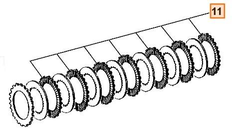 Disc clutch, JCB