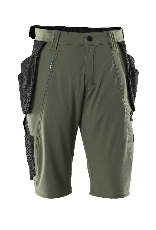 Trousers with holsterpock.shorts 17149 Advanced, moss green C50, Mascot