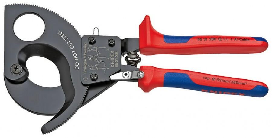 kaablilõikur D52mm/380mm2  Cu + Al, Knipex