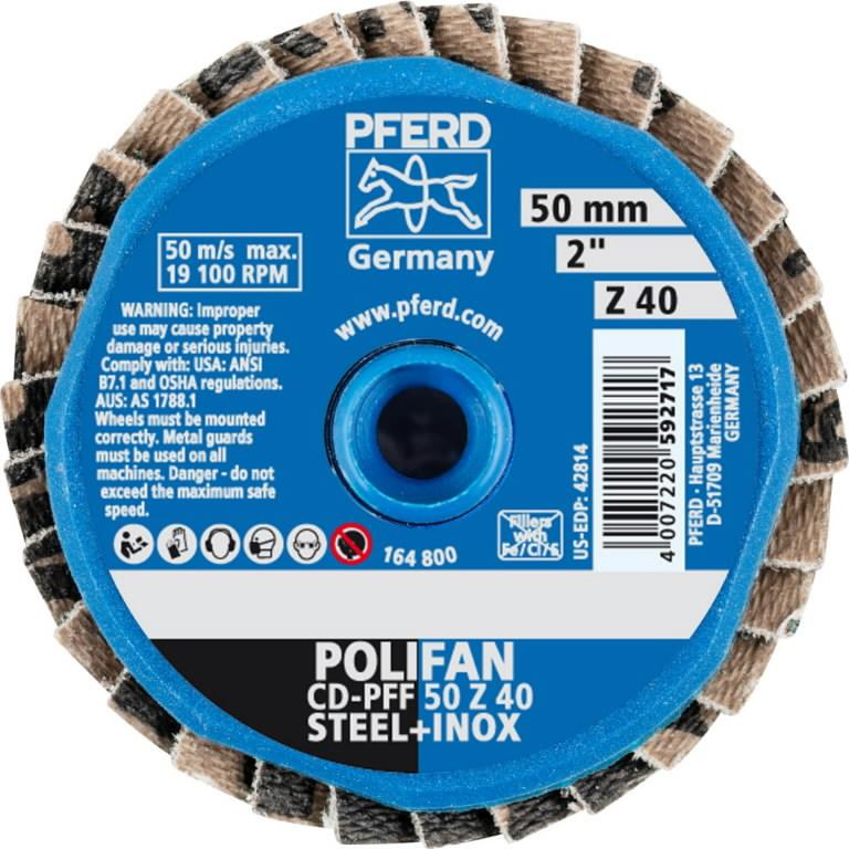 Vėduoklinis diskas 50mm Z40 PFF CD-MINI-POLIFAN, Pferd