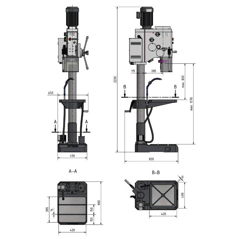 Puurpink OPTIdrill DH 32GSV 400V, Optimum