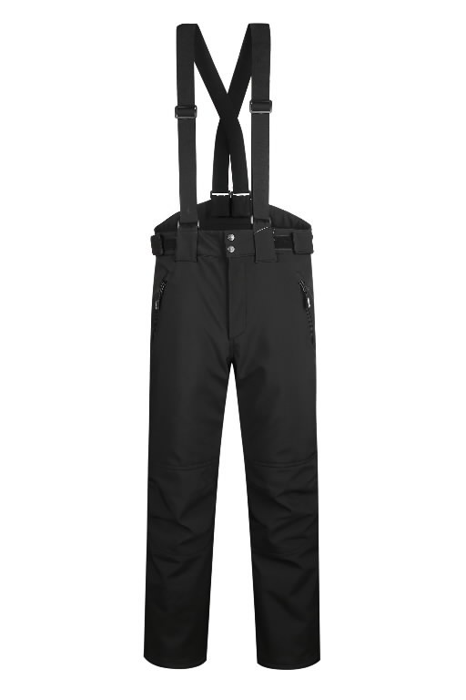 Winter softshell trousers Barnabi, black, with brace 3XL, Pesso