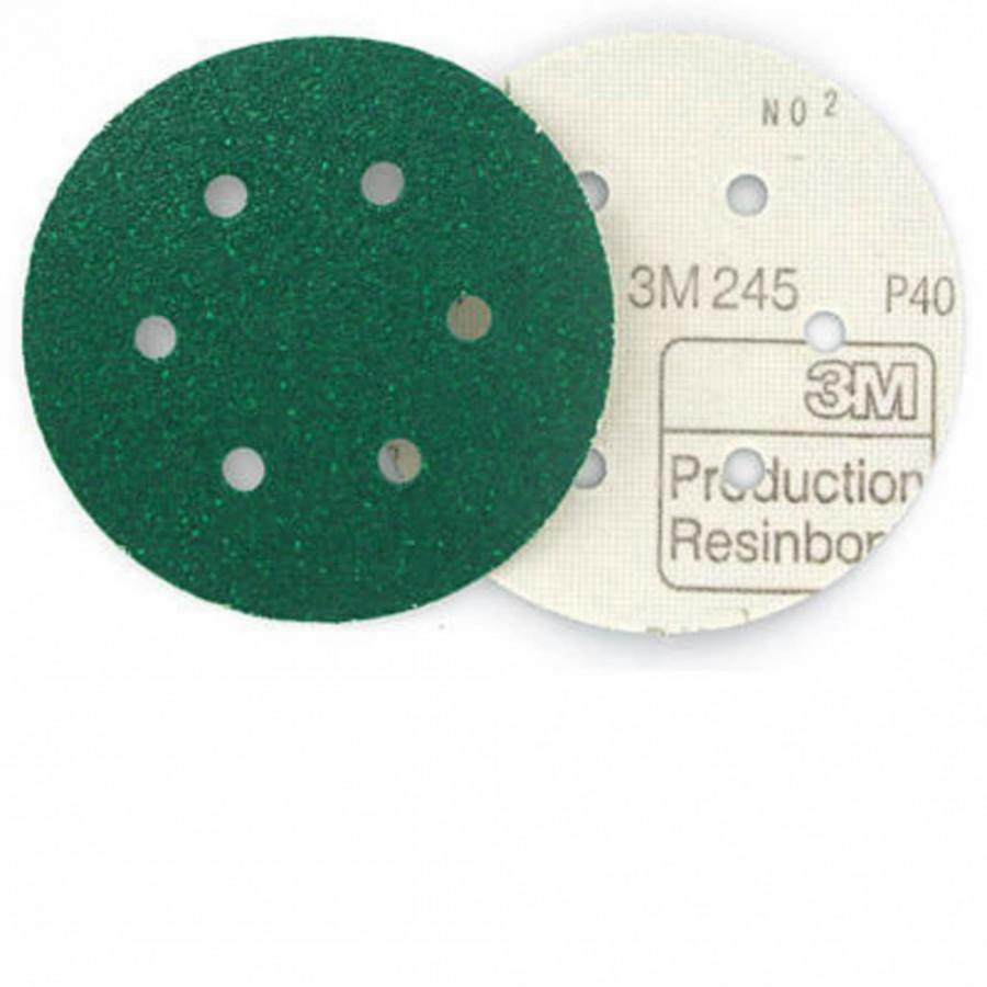 Šlifavimo diskas 150mm P100 6sk. 3M 245 Hookit, 3M
