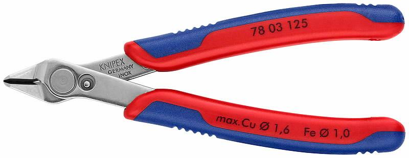el. külglõiketangid Super Knips INOX 125mm D1,6mm, Knipex