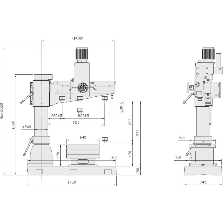 Radialinės gręžimo staklės OPTIdrill RD 5
