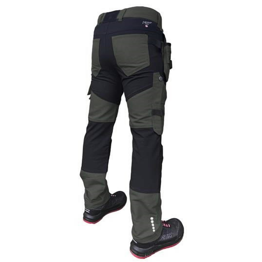 Trousers with holsterpockets Titan Flexpro, green C48, Pesso