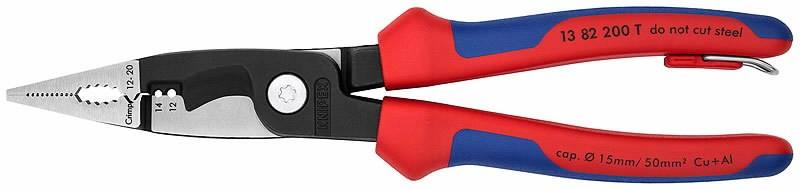 Elektriku näpitslõikurid 200mm comfort käepide konksuga, Knipex