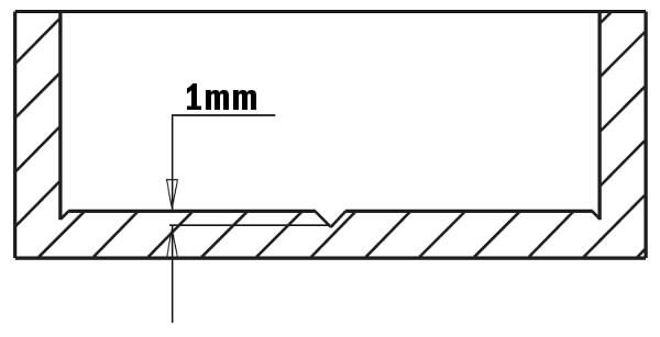Hingepuur 26x70 S=10x26 HM RH, CMT