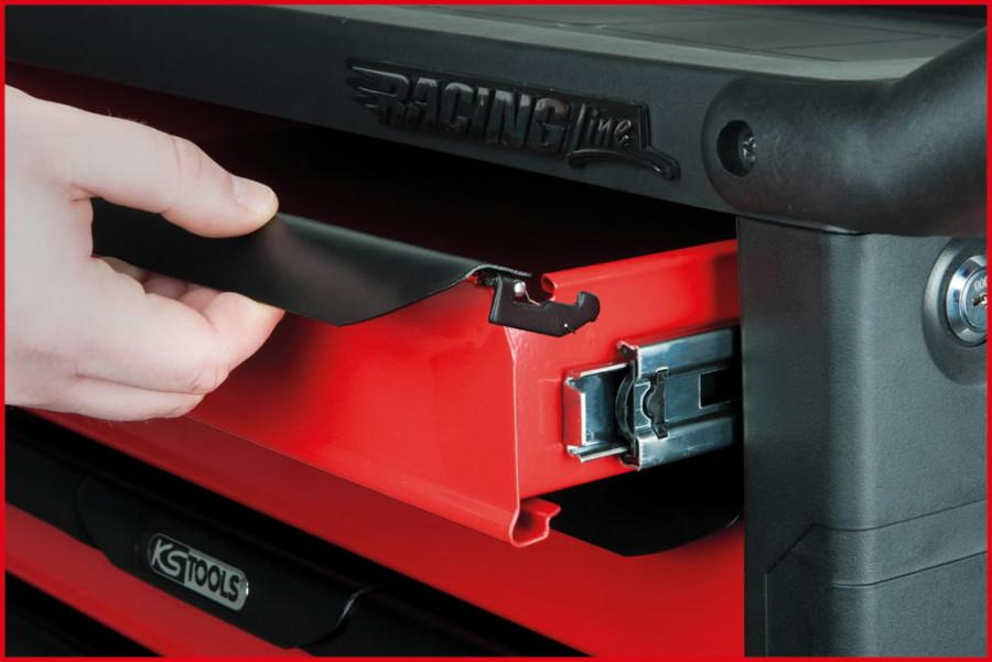 Tööriistakäru RACINGline, 7 sahtlit +kmpl 598-osa, KS Tools