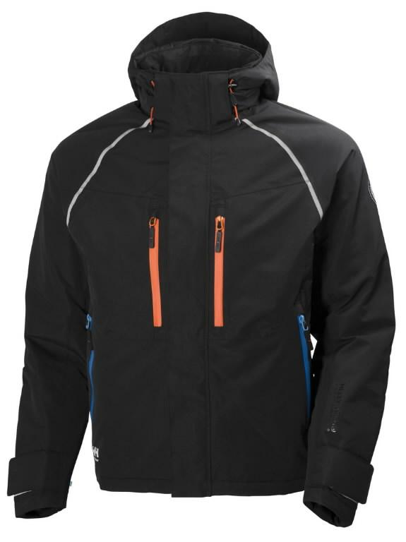 Talvejope Arctic kapuutsiga, must-oranž 3XL