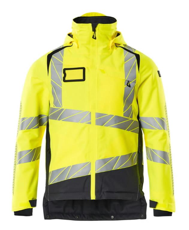 Hi. vis winterjacket Accelerate Safe, CL3, yellow/dark navy L, Mascot