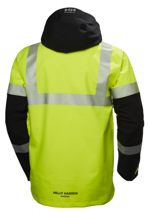 Koorikjope Icu kõrgnähtav CL3, kollane/must M, Helly Hansen WorkWear