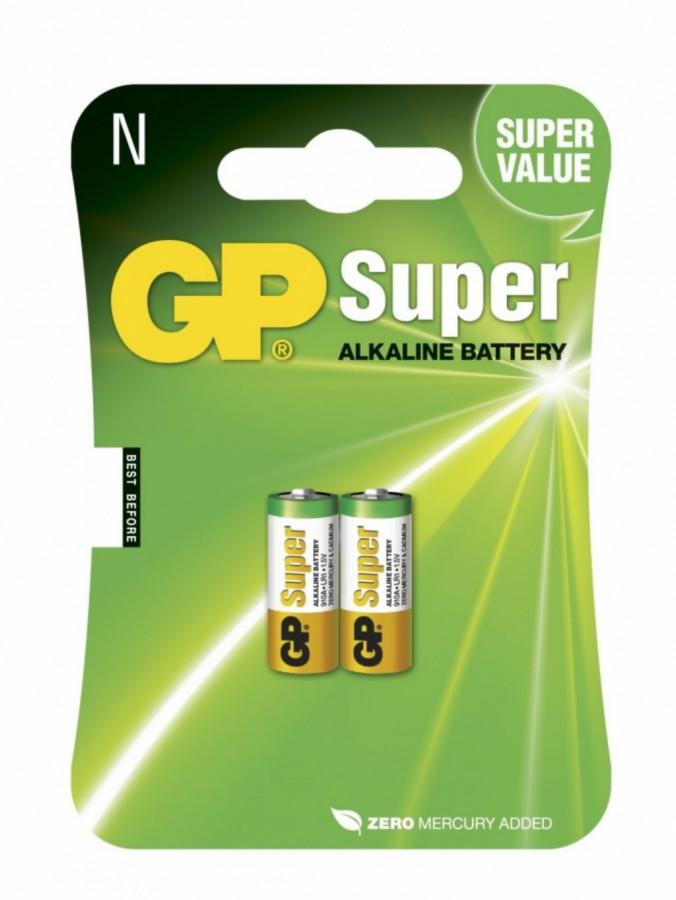 Patarei N/LR1, 1,5V, Super Alkaline, pakis 2tk, GP