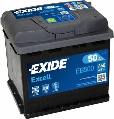 Käivitusaku EXCELL 50Ah 450A 207x175x190-+, Exide