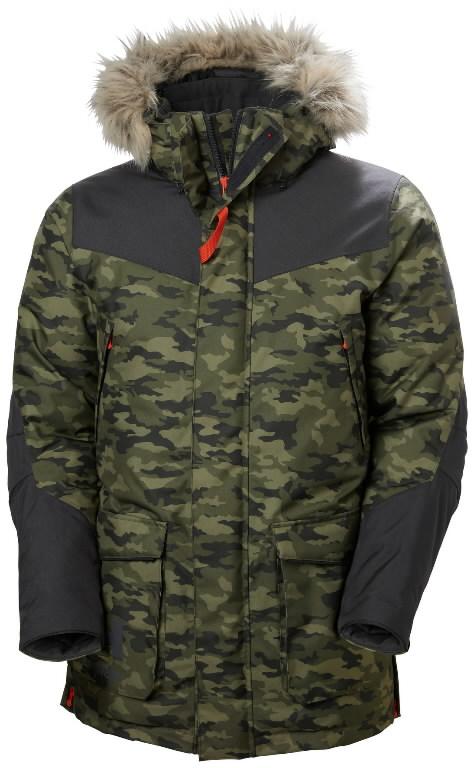 Winter jacket parka Bifrost, hooded, Camo 2XL, Helly Hansen WorkWear