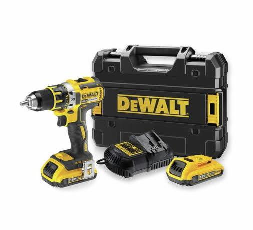 Cordless drill DCD790D2, brushless, 18V / 2 x2,0Ah, DeWalt