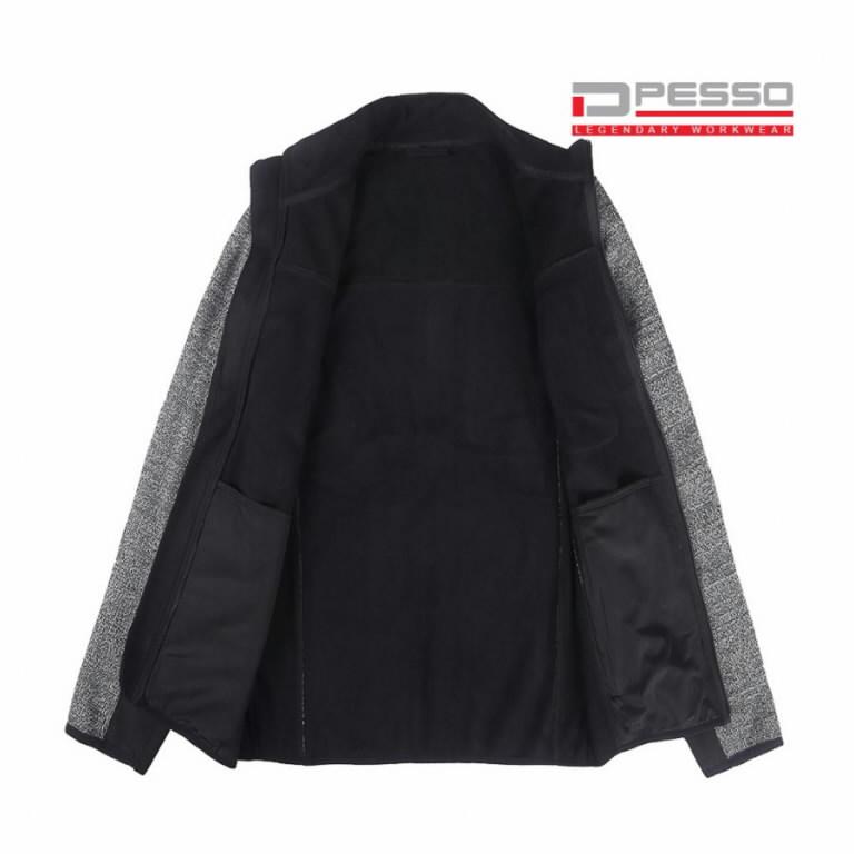 Softshell jakk Derby, kootud osaga, hall/must M, Pesso