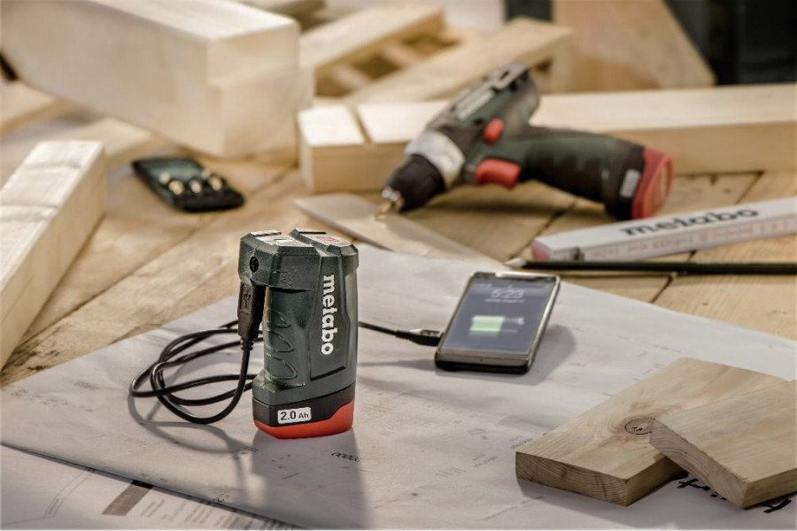 Akupank / adapter PowerMaxx PA 10.8V-USB, karkass, Metabo