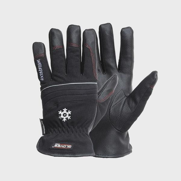 Talvekindad,PU peopesa, Spandex käeselg, talvine, Black Star 11, Gloves Pro®