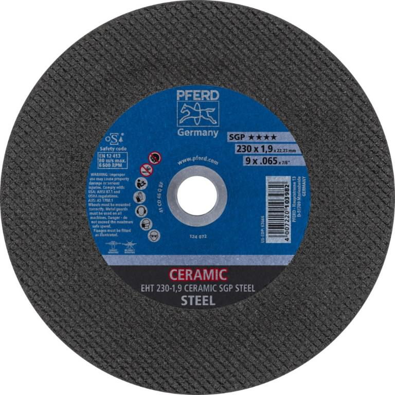 Metallilõikeketas 230x1,9mm SGP Keraamiline STEEL, Pferd