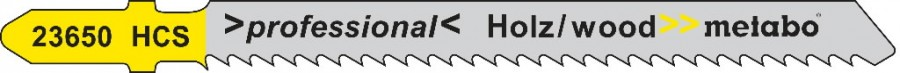 Tikksaetera puidule 2,5/75 mm, HCS, negat. hammastus - 5tk, Metabo