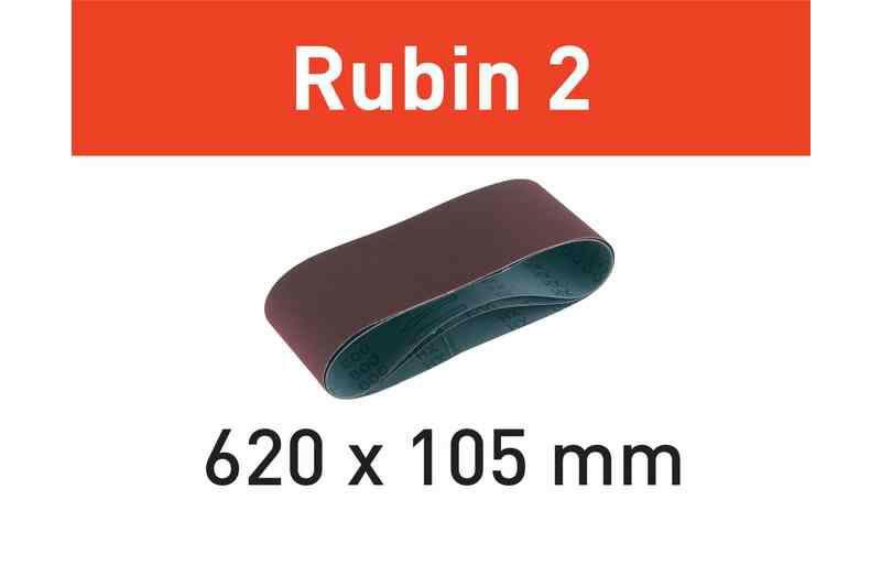 Šlifavimo juosta L620X105-P40 RU2/10 Rubin 2 10 vnt., Festool