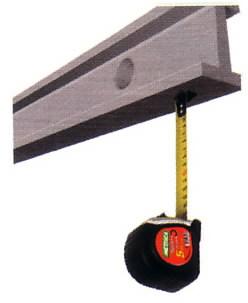 rullamitta 5m/25mm MAGNETE, Metrica