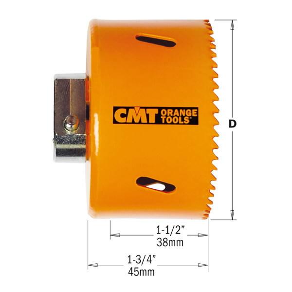 Hole saw HSS RH 27x38mm BIM 8%Co, CMT