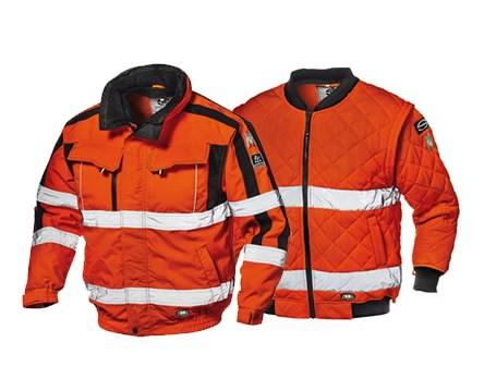Talvejope Contender 4-in-1 kõrgnähtav CL3, oranz 2XL, Sir Safety System