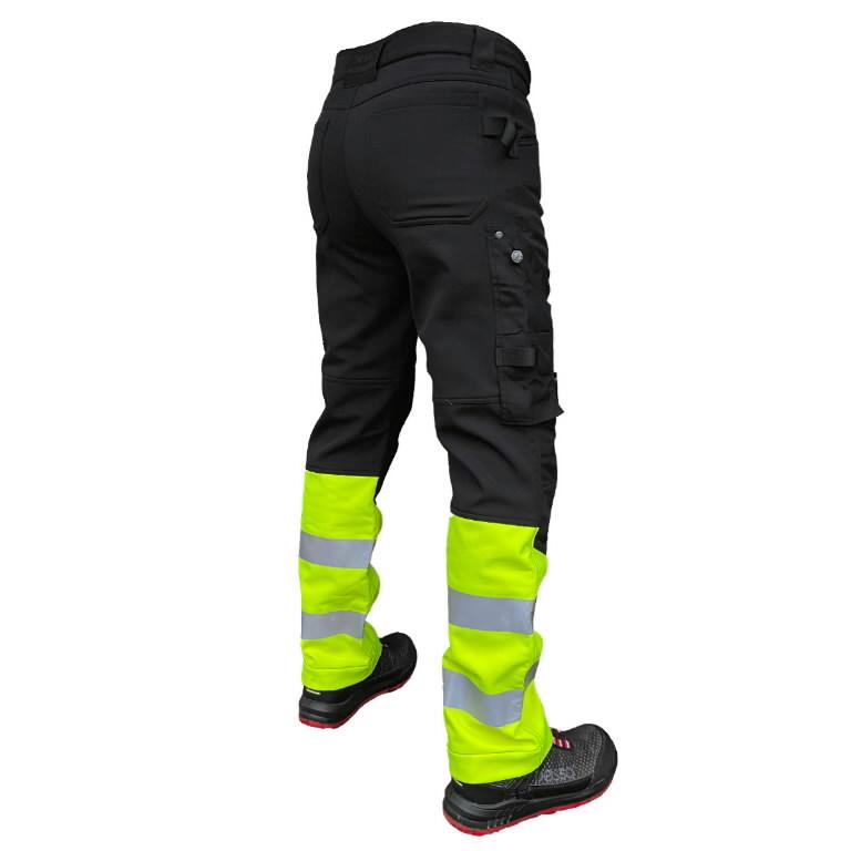 Softshell püksid  Mercury, kõrgnähtav, must/kollane C44