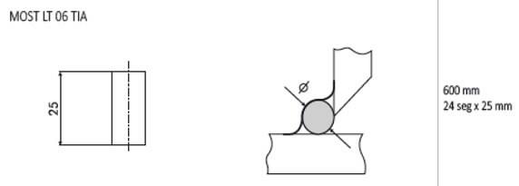 Juuretugi LT06 ümar d=8,0mm L=600mm,160tk/pk