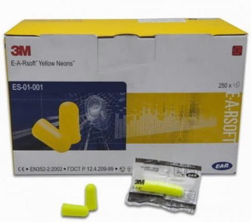 Kõrvatropid E-A-R soft neoonkollased, 1 paar kilepakendis ES-01-001, 3M