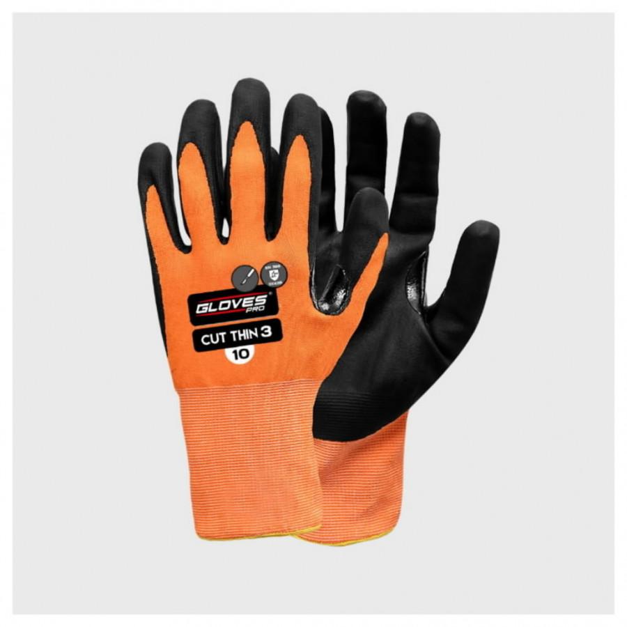 Kindad, lõikekindel klaaskiud, klass B,  PU peopesa 6, Gloves Pro®