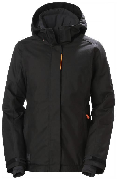 Winter jacket Luna hooded, women, black L, Helly Hansen WorkWear